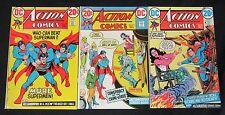 Action Comics #416, 417, 418 High Grade Bronze Age Lot NM+ Comic Books C308
