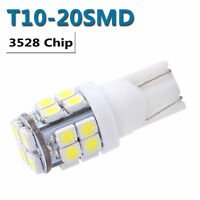 10Pcs T10 20-SMD LED White Super Bright Car Lights Bulb - 194 168 2825 W5W Hot