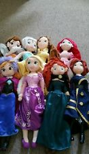8 x Disney Store princess plush soft doll toy Good Condition