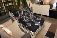 Throw Blanket Geometric Jacquard Geometric Rugs Tribal Ethnic Boho Cotton Decor
