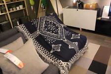 Geometric Jacquard Geometric Rugs Throw Blanket Tribal Ethnic Boho Cotton Decor