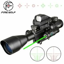 4-12X50 EG Hunting Airsofts Riflescope Tactical Air Gun Red Green Dot Laser Sigh