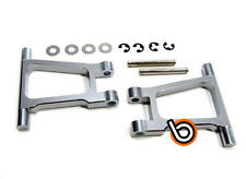 TAMIYA TT01 TT-01 REAR UPPER ARM SET CNC ALUMINIUM ALLOY SILVER by Blitz