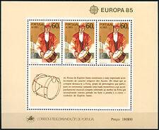 Azzorre 1985 sg#ms465 EUROPA, LA MUSICA ANNO Gomma integra, non linguellato M/S foglio CAT £ 18 #d40789