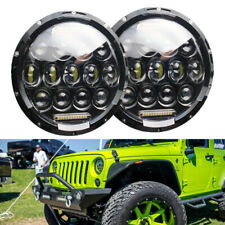 1PAIR 7INCH 170W LED Headlight Hi/Lo Beam DRL For Jeep Wrangler CJ JK LJ Rubicon