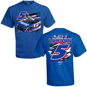Kyle Larson 2021 #5 Hendrick Cars Racing 2 Spot Fuel Slingshot Blue Tee Shirt