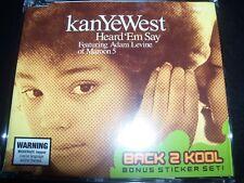 Kanye West Featuring Adam Levine (Maroon 5) – Heard 'Em Say Aust CD Single