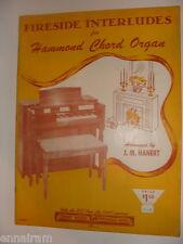 Fireside Interludes for Hammond Chord Organ arr. J M Hanert 1956