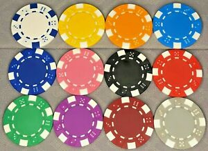 HIGH QUALITY DICE DESIGN 12g POKER/CASINO CHIPS - CHOOSE FROM DROP-DOWN MENU