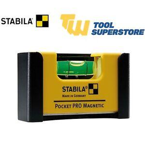Stabila Pocket PRO RARE Earth Magnetic Belt Mini Spirit Level & Holster Holder