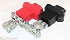 2 Batterie Polklemmen Set - Minus + Pol Gerade mit Polschutzkappen -70mm²