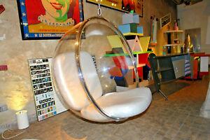 Bubble Chair neu! EERO AARNIO Lederkissen Acryl Kugel Hängesessel