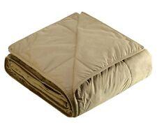 "COTTON LOFT Down-Alternative Cotton Filled Blanket ""WHEAT"" TWIN New in Package"