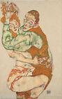 Egon Schiele Lovemaking Girl Canvas Print