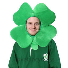 IRISH FOUR LEAF CLOVER HAT NOVELTY ST PATRICKS DAY FANCY DRESS IRELAND SUPPORTER