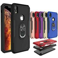 Hybrid Shockproof Ring Stand Car Bracket Case For iPhone 11/Pro/Pro Max XR XS