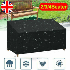Heavy Duty 2/3/4 Seater Bench Cover Outdoor Garden Cube Seat Covers Waterproof