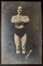 WRESTLER Russia Krylov MUSCLE BULGE Handsome man BEEF Gay Int antique photo card