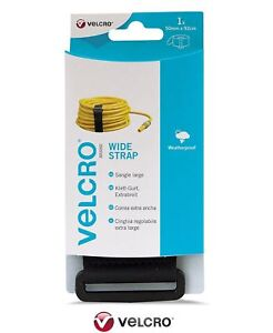 VELCRO® Brand Extra Wide Strong Adjustable Strap 50mm x 92cm Black Reusable