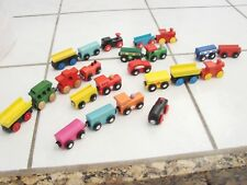 Wooden magnetic Trains lot tons of trains unbranded Compatible with Brio Thomas