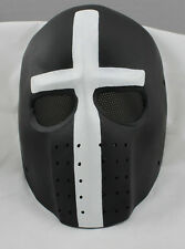Cross Fiberglass Resin Mesh Eye Paintball BB Gun Full Face Protection Mask