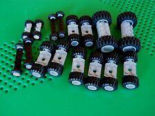 Lego 80 pieces Wheels Bulk Vehicle Parts Car Truck Tires axle Rim Sets