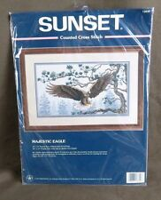 Sunset Counted Cross Stitch Kit #13640 Majestic Eagle NEW