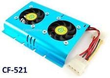 Aluminum 4-Pin Molex Dual 50mm Fan HDD Cooler for Hard Disk Drives - CF-521