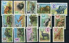 1969/75 - SWAZILAND - ANIMALS SET OF 15, MINT