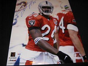 Charles Woodson Oakland Raiders Signed 16x20 Pro Bowl Photo PSA