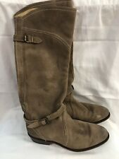 FRYE Riding Leather Motorcycle Riding Biker Women's Size 5 Brown Boots