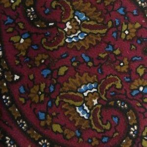 Vintage Burgundy Paisley PIERRE CARDIN Silk Tie