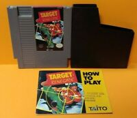 Target Renegade -  Nintendo NES Game, Manual, Dust Cover, Rare Tested Authentic