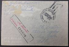 Servicio postal del ejército de Estados Unidos APO Cubierta aéreo 499, 1943 a Tulsa, OK