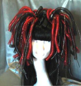 Cyberlocks Haarteil Cyber Goth WGT Techno Hairfall #91