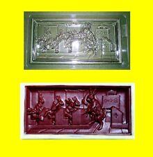 Schokoladenform -Gießform - Relief -Oster-Tafel Hasenschule 200g Profi-Form