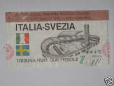 ITALIA SVEZIA SWEEDEN BIGLIETTO TICKET 1979 FIRENZE