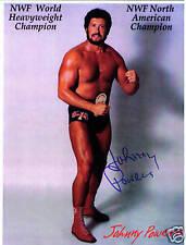 Nwf Iwa Wwwf Johnny Powers signed autograph auto wrestling wrestler photo