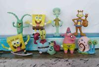 """LOT OF 8 pcs SpongeBob Squarepants figure 2"""" SET LOOSE #U56"""