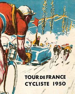 1950 Tour de France Advertising Poster - 8x10 Color Photo