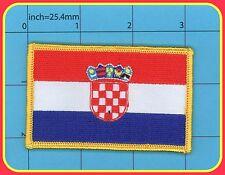 Croatia Flag Iron on Patch Hrvatska Kroatien zastava Zagreb BBB Sahovnica GRB