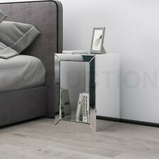 Mirrored Side Table Bedside Lamp Table Nightstand Mirror Furniture with Storage