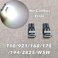 License Plate Light T10 15 SMD LED Wedge 194 2825 168 12961 W5W 6K White W1 E