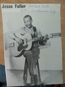 JESSE  FULLER  -  AMERICAN   MUSICIAN  -  AUTOGRAPHED  PICTURE -  1960