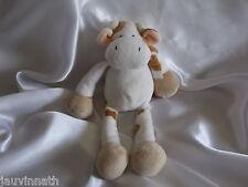 Doudou vache blanc, tâches marrons, Gund Kids, Blankie/Lovey/Newborn toy