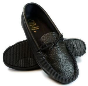 Mens Black Grey Tan Leather moccasins Slippers English Handmade UK 6-12