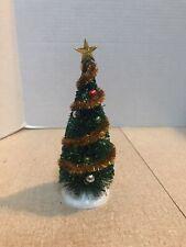 Lemax Christmas Village~Christmas Tree with Gold Garland & Star~Euc