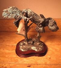"""Used Legends by DD Edwards Signed """"Defenders of Freedom"""" Fine Pewter Sculpture"""