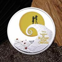 Scary Night Colorful Silver Commemorative Coin For Collection A4H7