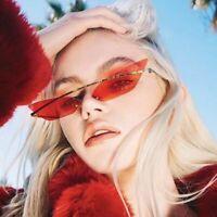 Fashionable New Cat Eye Sunglasses Vintage Half Frames Rimless Mirror Eyeglasses